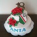 Torcik dla Ani fanki LEGII #osiemnastka #tort na #osiemnastkę #tort #okazjonalny #tort #torty #legia #tort z #logo #legii 18