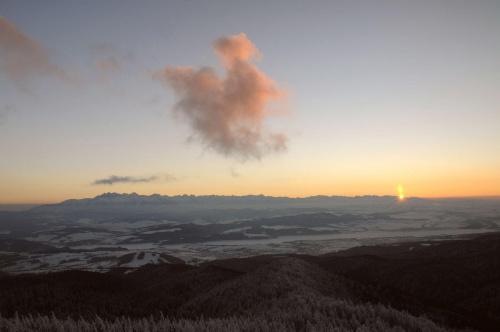 Zachód słońca z Lubania-Gorce