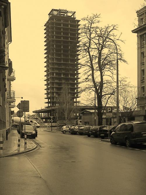 Szkieletor - nowa Unity Tower w Krakowie
