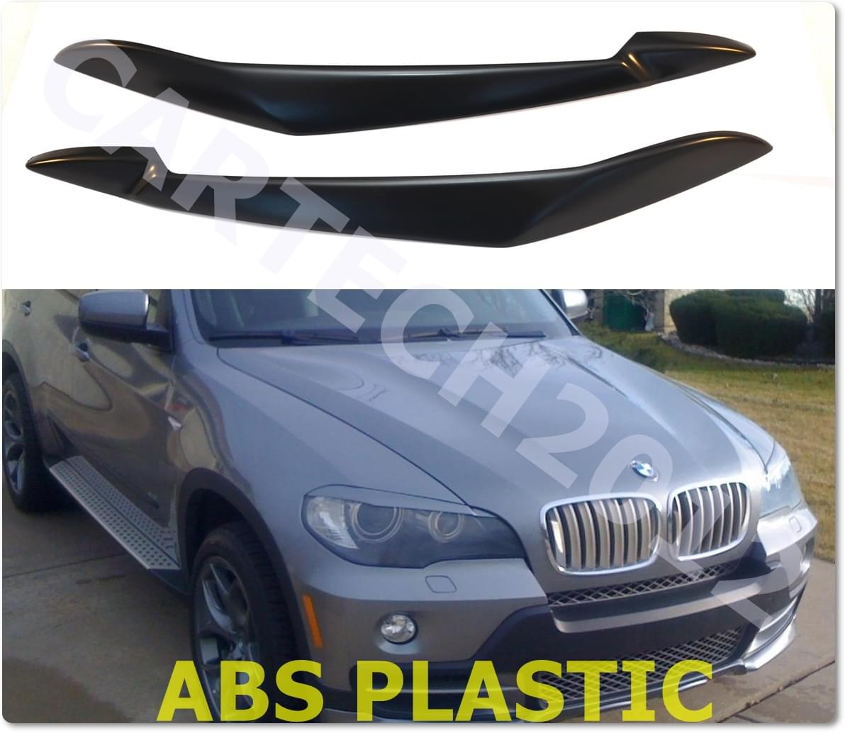 bmw x5 e70 headlights eyebrows eyelids abs plastic. Black Bedroom Furniture Sets. Home Design Ideas
