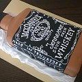 Jack Daniels #tort z #jackiem #danielsem #jzck #daniels #tort #artystyczny #tort #okolicznościowy #tort #butelka