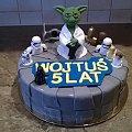 Tort z Gwiezdnych wojen #mistrz #Joda #tort #okolicznościowy #gwiezdne #wojny #wars #stars #kosmos