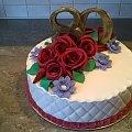 Tort okolicznościowy #torty #oklolicznościowe #torty #tort #urodzinowy #rocznica #róże