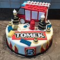 Tort LEGO dla Tomka Straż #straż #tort ze #strażą #lego #straż #tort #okazjonalny #tort #dla #chłopaka #tort #lego