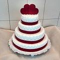 Tort weselny z sercami #tort #weselny #torci na #specjane #okazje #tort #weselny #tort #weselniaczek #tyort z #sercami