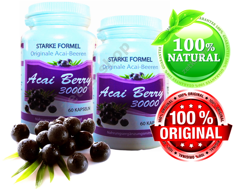 54000 mg top original brazilian acai berry extrakt 120. Black Bedroom Furniture Sets. Home Design Ideas