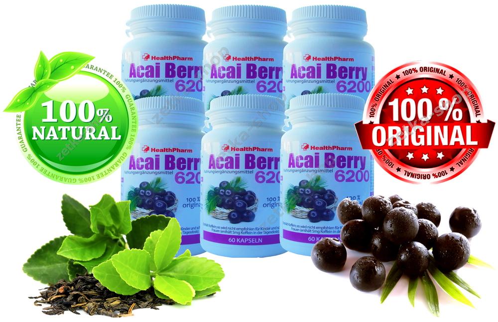 360 kapseln brazilian acai berry 126000 mg gr ne tee. Black Bedroom Furniture Sets. Home Design Ideas